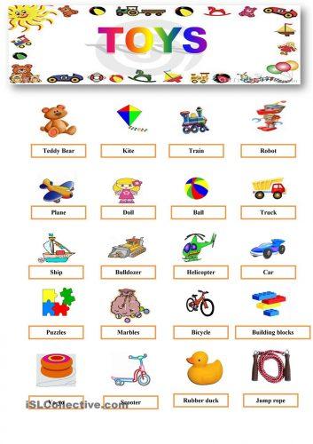 игрушки на английском языке