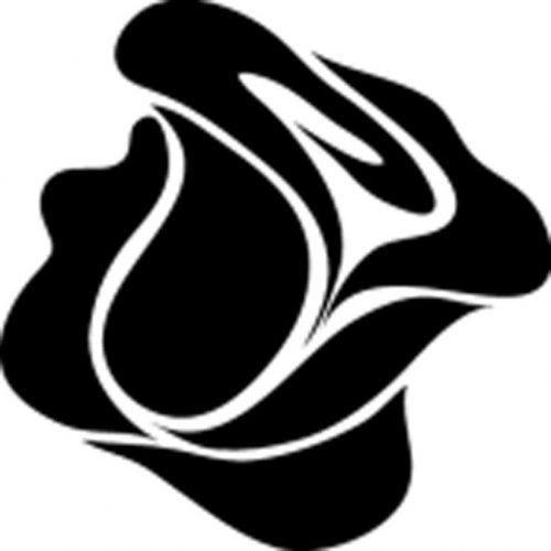 трафарет бутон розы