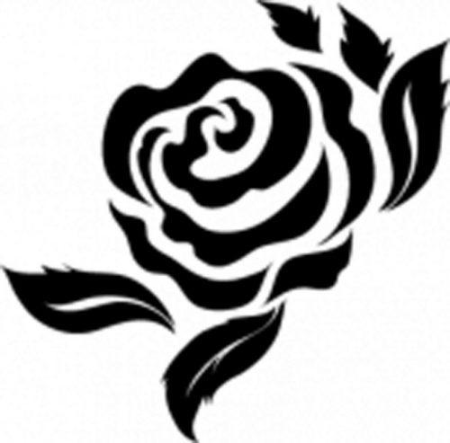 трафарет розы