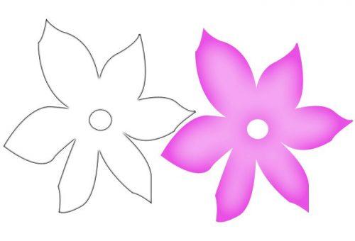 трафареты лилия