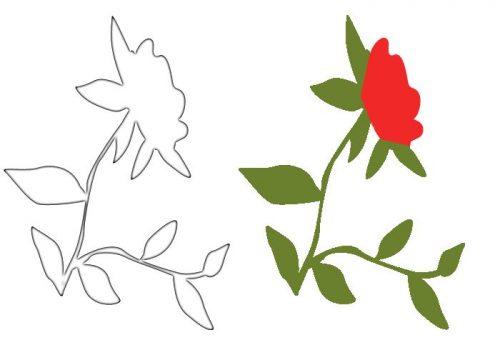 трафареты роза