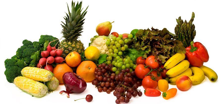 Раскраска: овощи и фрукты для детей