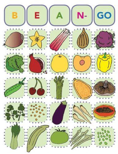 игра бинго с овощами