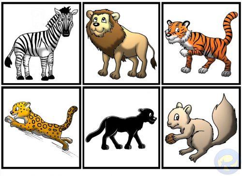 карточки животные и их детеныши