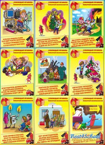 правила пожарной безопасности плакат