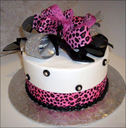 торт с туфельками