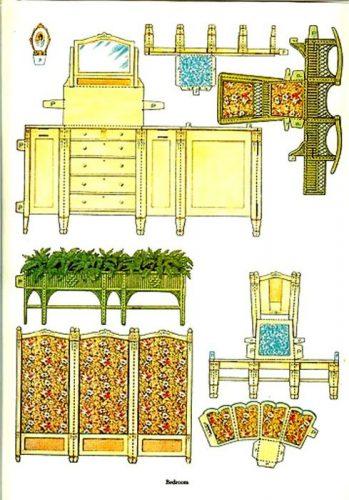 Бумажная мебель картинка