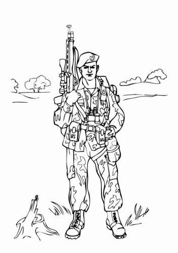 военные раскраски для детей11