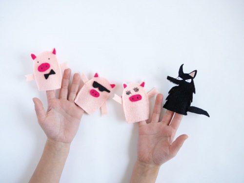 пальчиковые игрыа волк и поросята