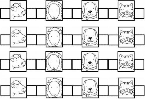 шаблоны животные