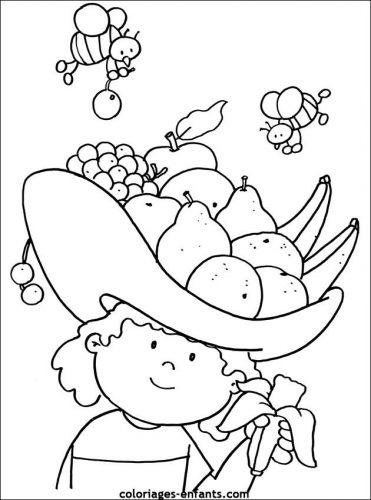 фрукты раскраска
