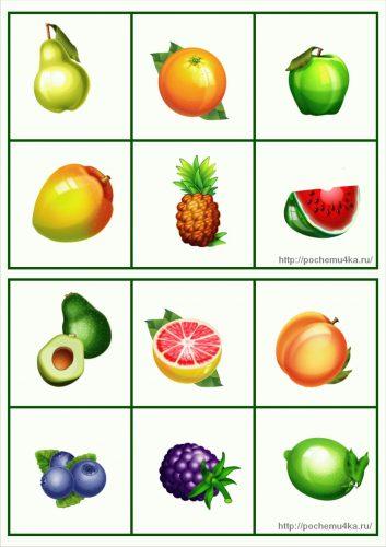 картинки фрукты и ягоды