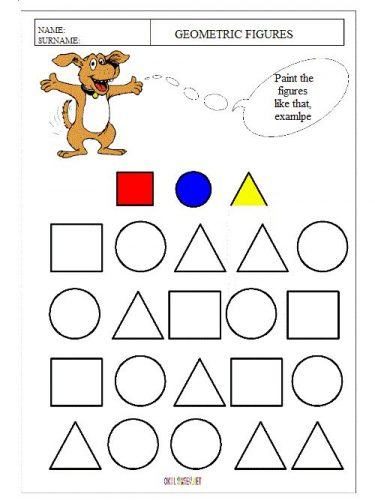 картинки геометрических фигур с заданиями
