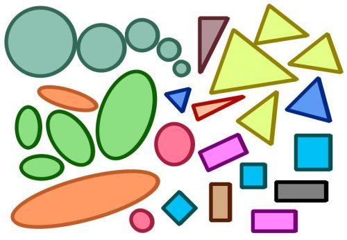 геометрические фигуры картинки для аппликаций
