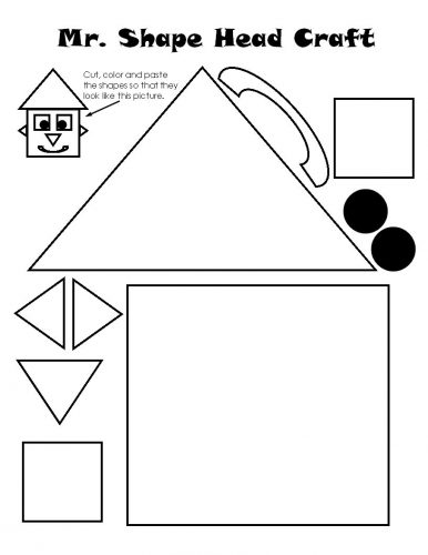 дом из геометрических фигур