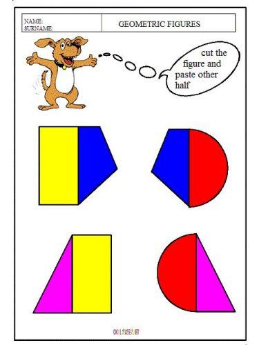 рисунки из геометрических фигур