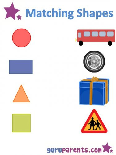 геометрические фигуры картинки-задания