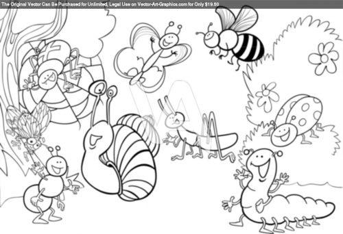 ракраска насекомые