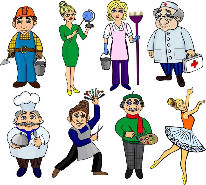 профессии знакомство для детей картинки