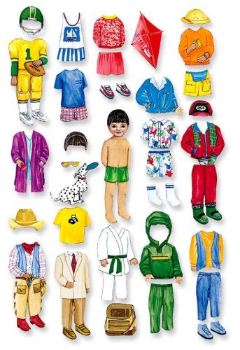 бумажная кукла мальчик1