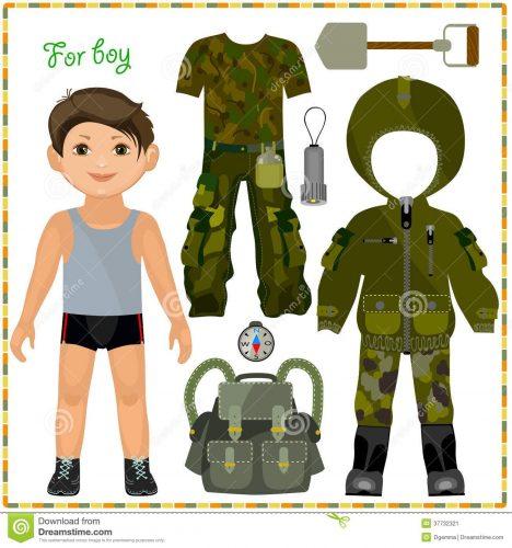 бумажная кукла мальчик3