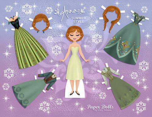 бумажная кукла Анна