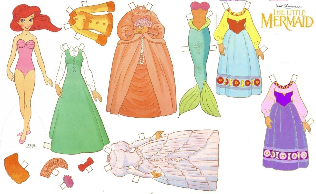 Кукла из бумаги с одеждой распечатать