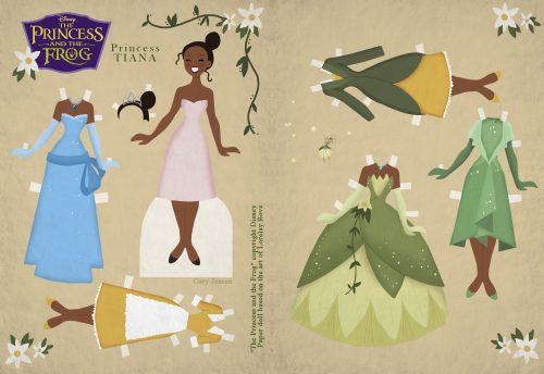 бумажная кукла принцесса Тиана
