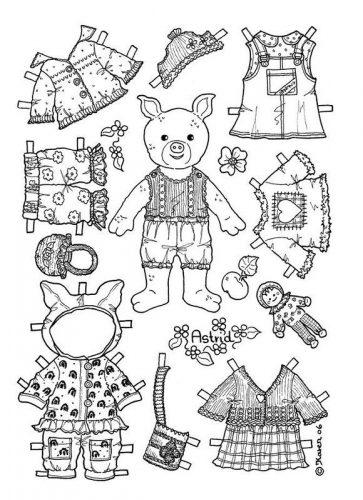 бумажные куклы раскраски2