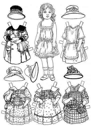 бумажные куклы раскраски3
