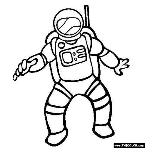 космонавт раскраска