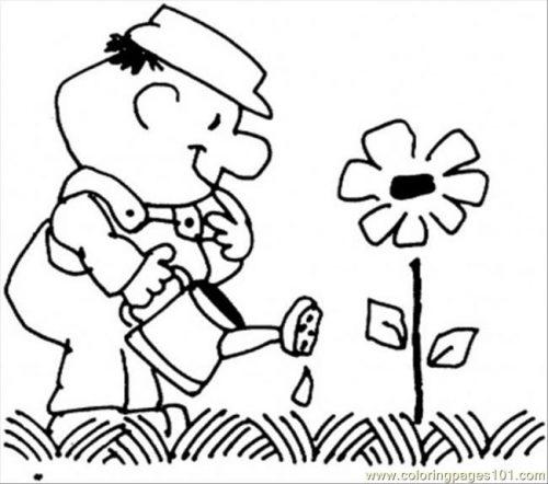 садовник раскраска