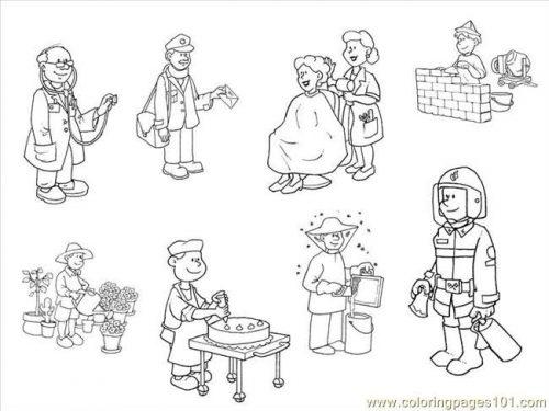 раскраски профессии людей для детей