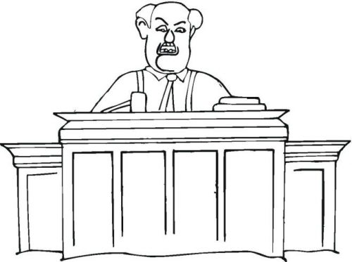 судья раскраска