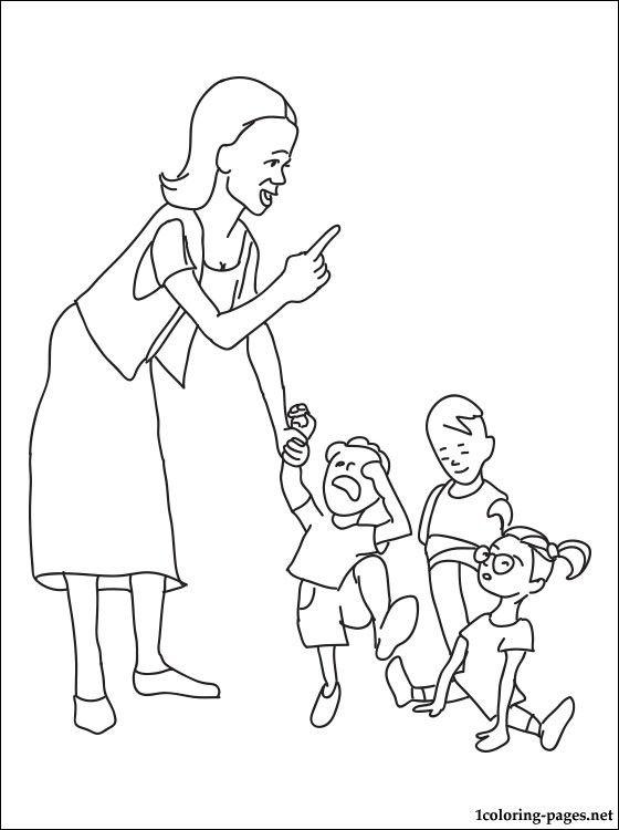 Профессии детского сада раскраски