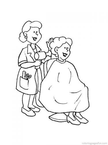 парикмахер раскраска