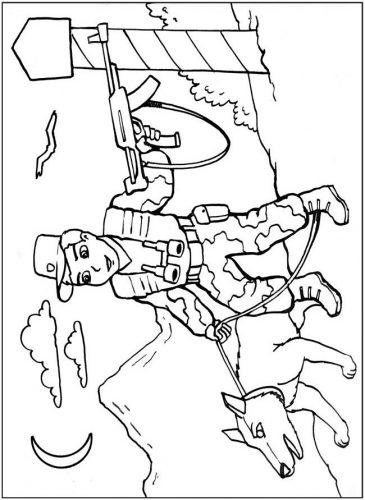 военные раскраски для детей2