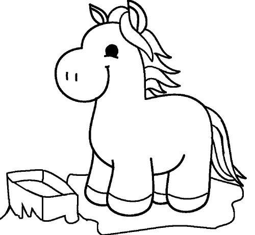 лошадка раскраска