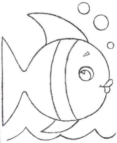 рыба разукрашка