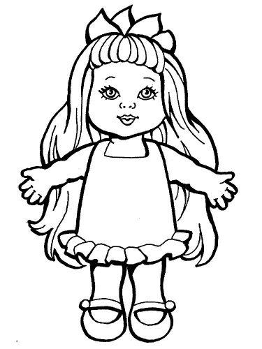 кукла разукрашка