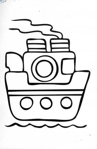 кораблик разукрашка