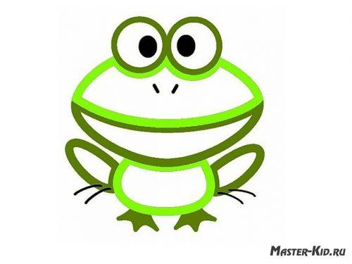 раскраска лягушонок
