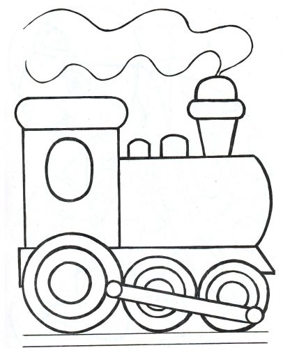 паровозик раскраска