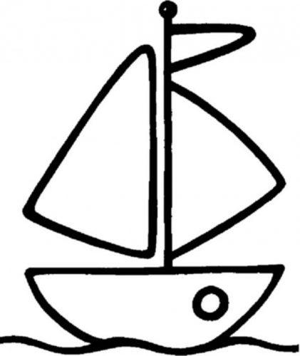 кораблик раскраска