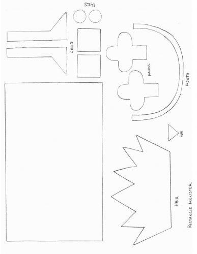 аппликация квадрат из бумаги