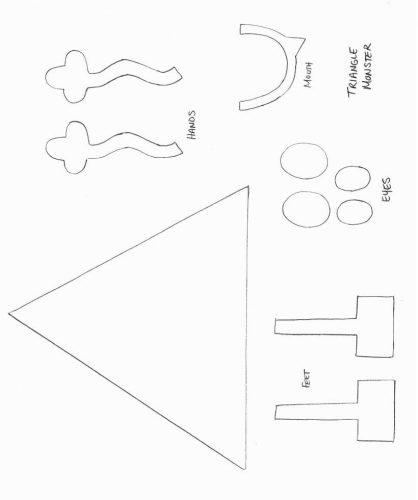геометрическая фигура из бумаги