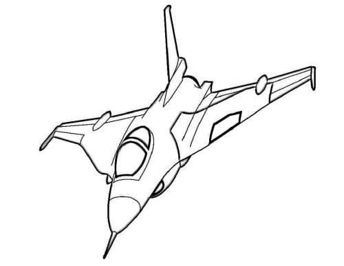 самолет раскраска1