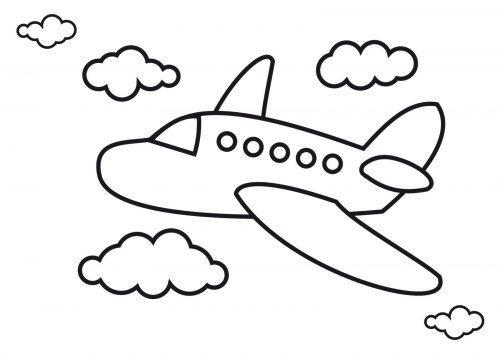 самолет раскраска2