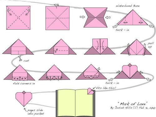 закладка для книг оригами