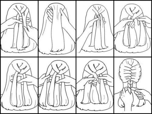 косички для девочек по шагам14